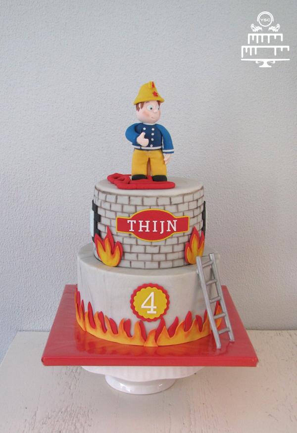 taart brandweerman sam Brandweerman Sam taart • Yummie Sweet Cakes taart brandweerman sam