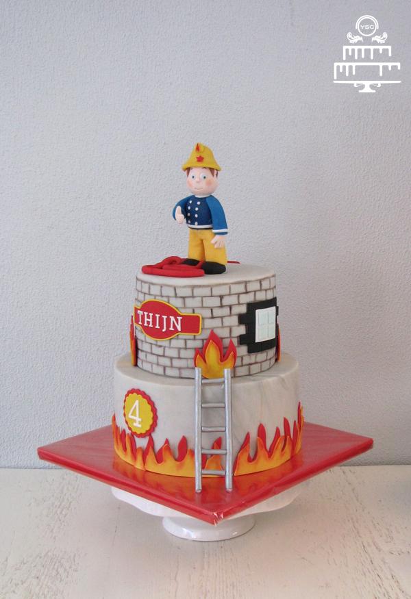Fabulous Brandweerman Sam taart • Yummie Sweet Cakes • @IN09