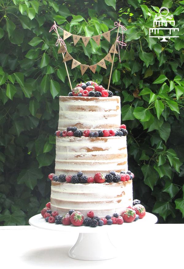 Naked cake voor een verjaardag