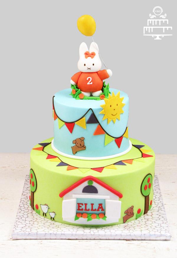 Beroemd Nijntje verjaardagstaart - Yummie Sweet Cakes QH-85