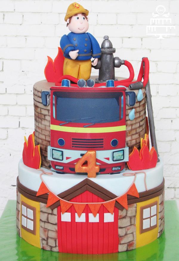 Super Brandweerman Sam themataart • Yummie Sweet Cakes • &BT92