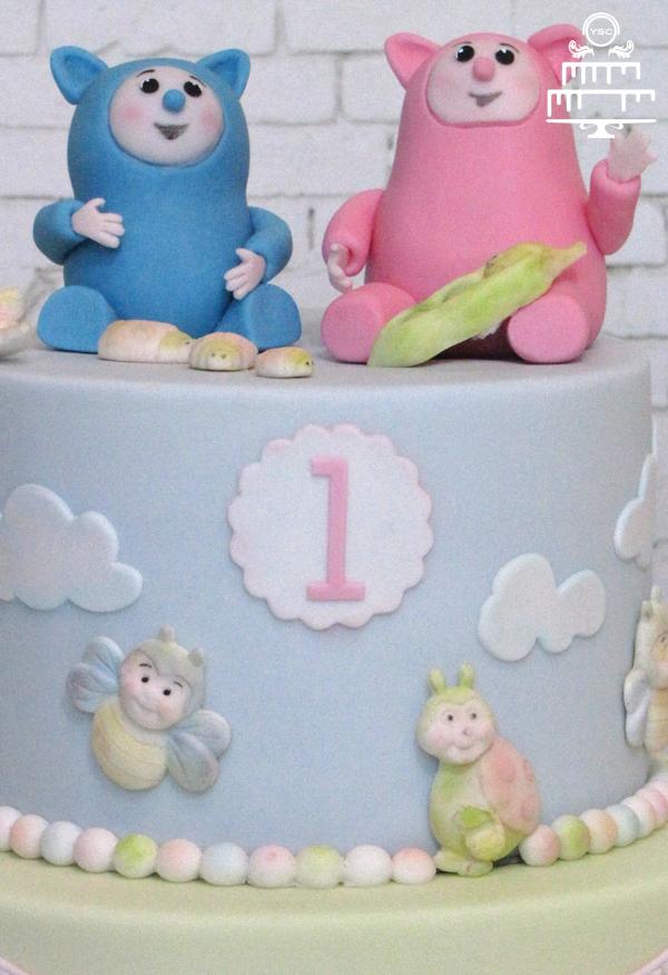 Beroemd Billy en Bam Bam op een taart - Yummie Sweet Cakes @MZ12