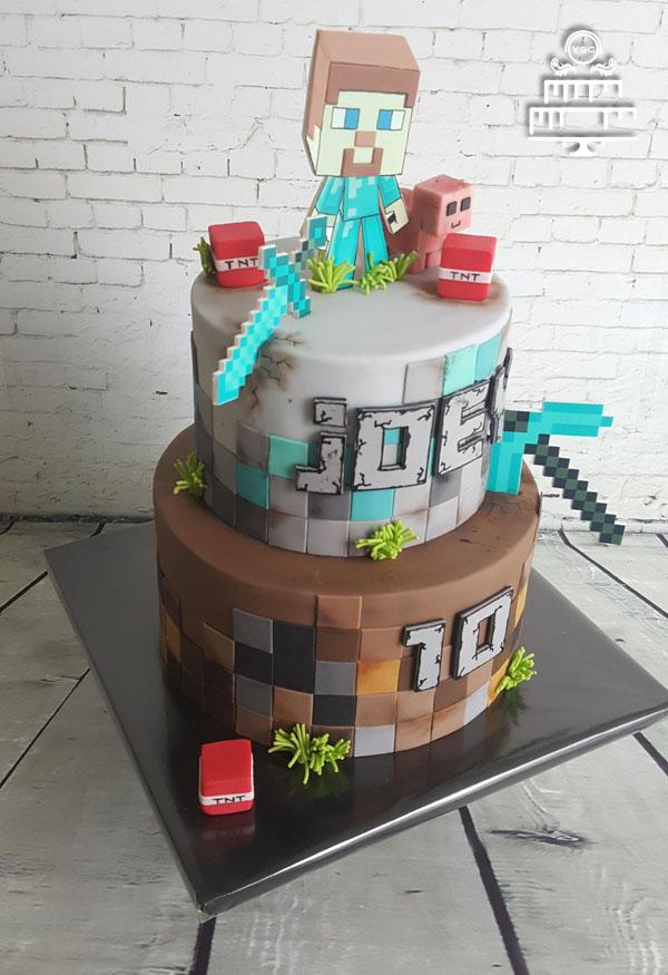 jongens taart maken
