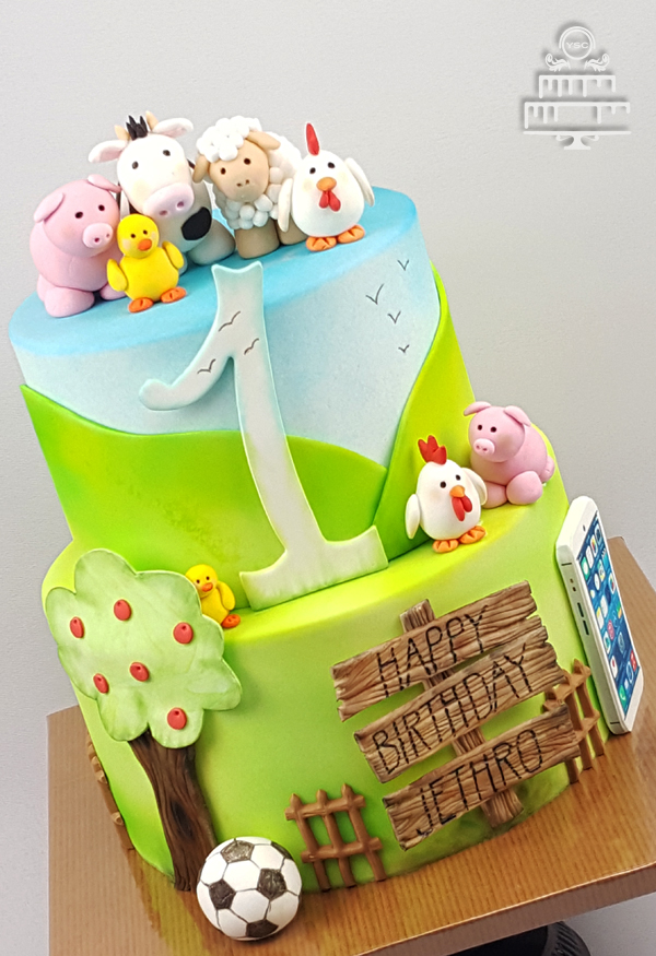Een Leuke Kinderboerderij Dierentaart Yummie Sweet Cakes