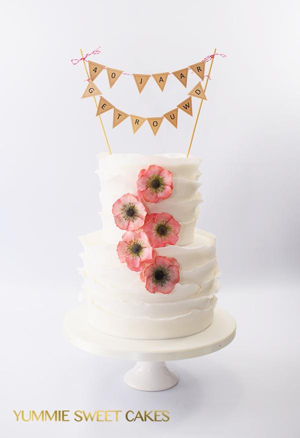 Een taart voor een 40 jarig huwelijk