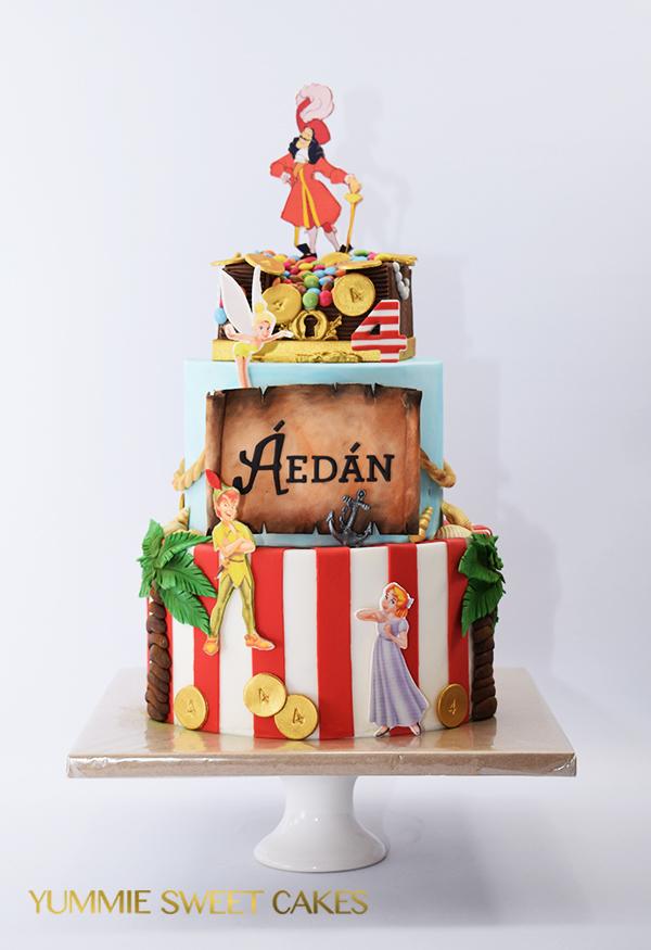 Peter Pan En Kapitein Haak Als Themataart Yummie Sweet Cakes