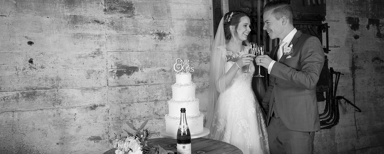 Bruidstaart met Champagne