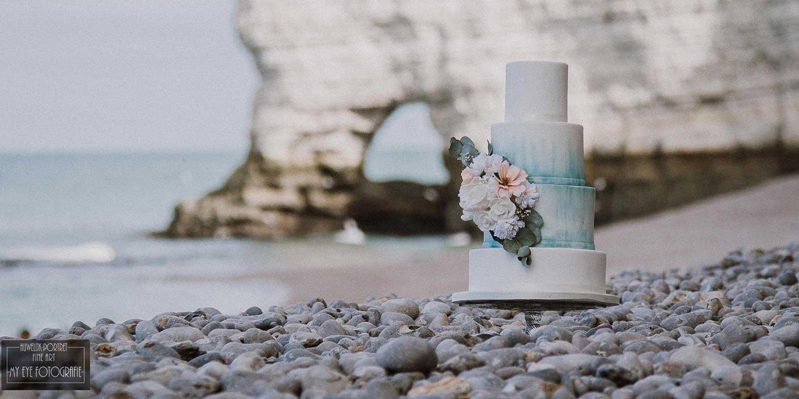 Bruidstaart aan Zee