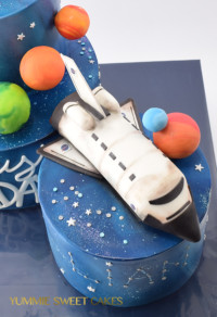 Birthday cake for a boy with NASA