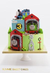 Een stoere Thomas de Trein taart