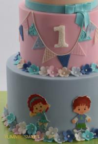 Schattige verjaardagstaart voor kind