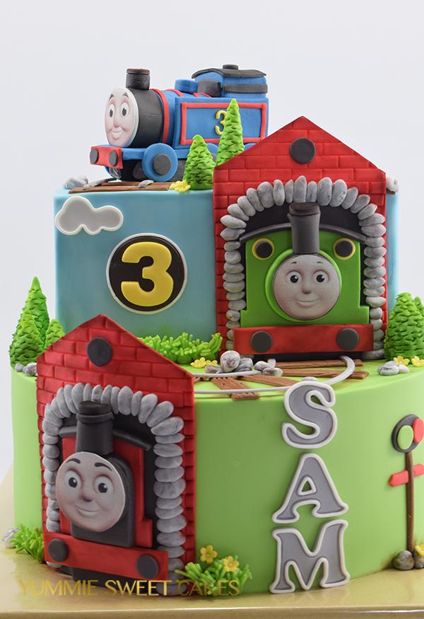 Treinen taart voor jongen van 3 jaar oud