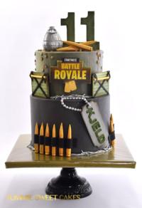 een stoere Fortnite taart