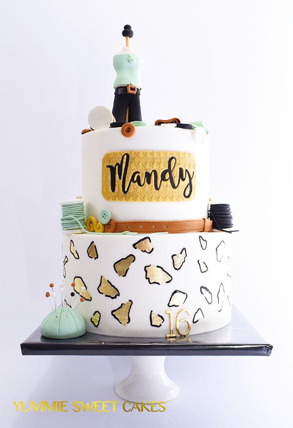 Een fashion cake voor Mandy
