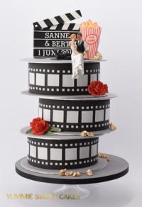 Een bruidstaart voor filmliefhebbers