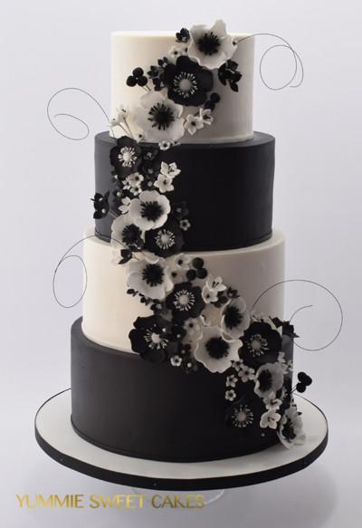 Een bruiloft in het zwart-wit