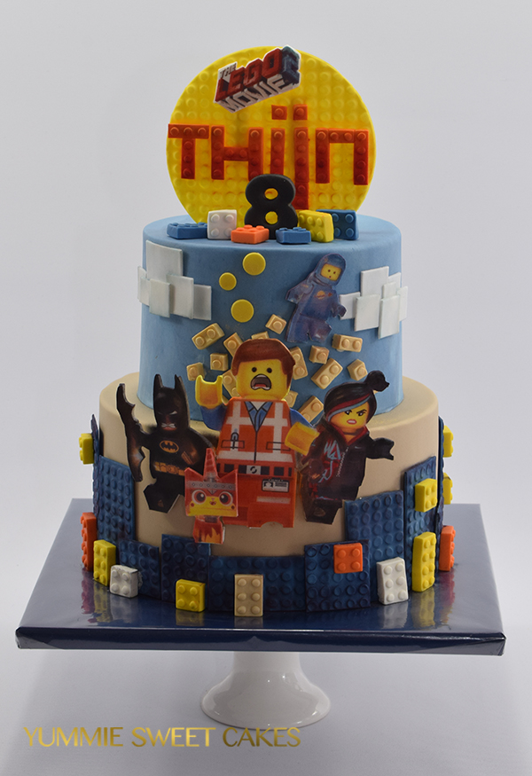 Een kindertaart met Lego The Movie