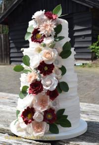 Een romantische bruidstaart