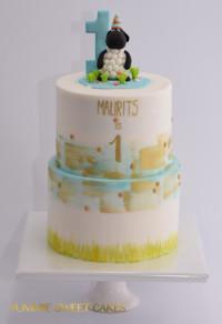 Een schattige taart voor een baby