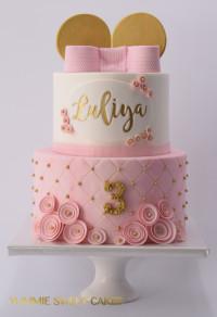 Een zoet roze meisjes taart