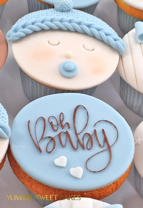 Baby boy babyshower cupcakes
