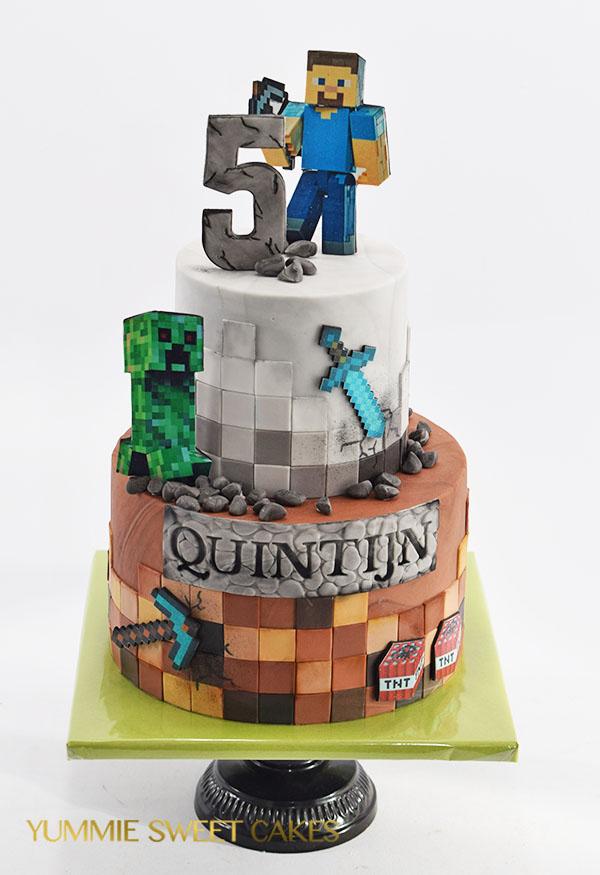 De enige echte Minecraft taart